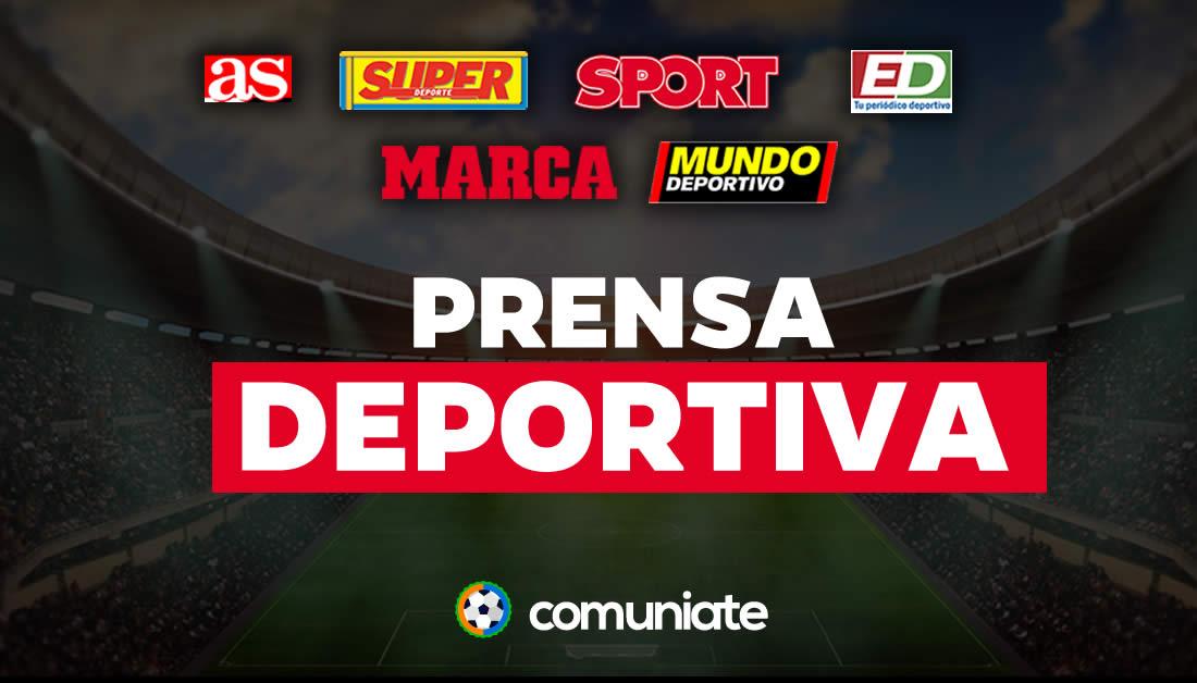 Portadas periódicos deportivos del día de hoy: AS, MARCA, MUNDO DEPORTIVO, SPORT, SUPERDEPORTE...