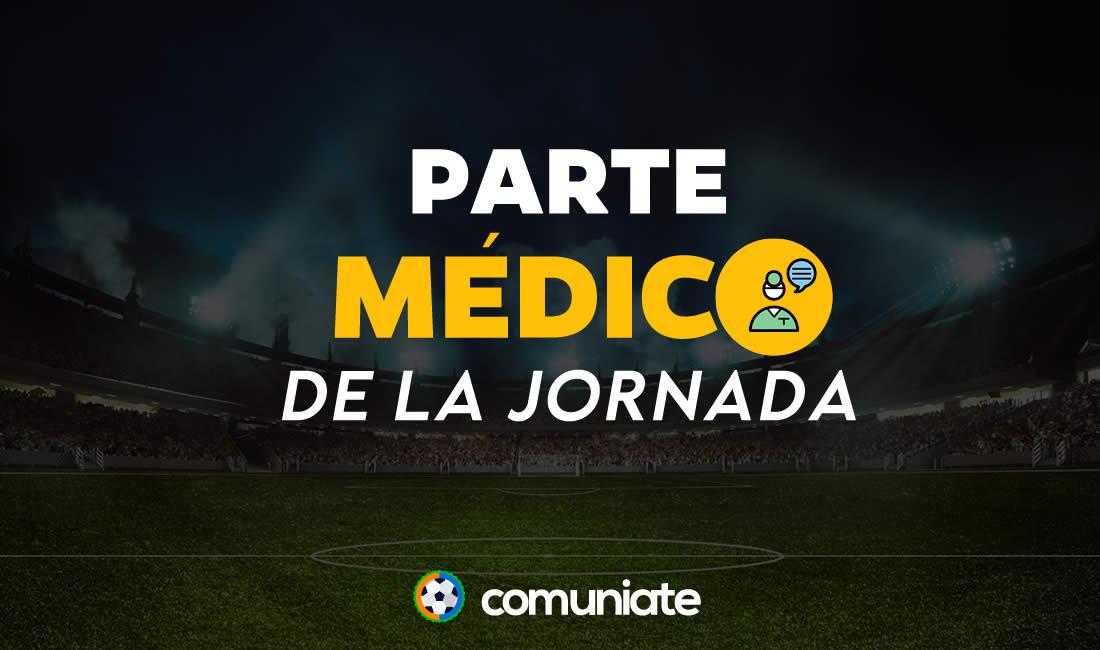 Parte médico de la Jornada 8: Llorente, Brais Méndez, Nolito, Araujo, ...
