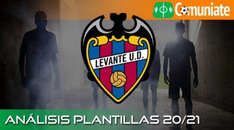 Análisis ACTUALIZADO de la plantilla  y recomendables del Levante U. D. temporada 20/21.