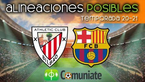 Alineaciones posibles y previa de la Jornada entre Athletic y Barcelona. Jornada 2.