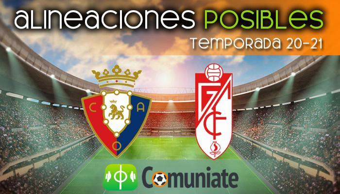 Alineaciones posibles y previa de la Jornada entre Osasuna y Granada. Jornada 20.