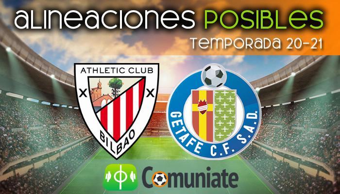 Alineaciones posibles y previa de la Jornada entre Athletic y Getafe. Jornada 20.