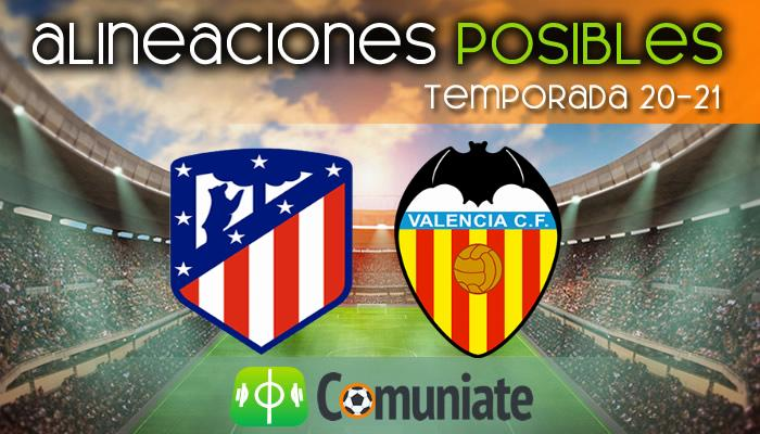 Alineaciones posibles y previa de la Jornada entre Atlético y Valencia. Jornada 20.