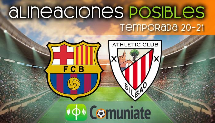 Alineaciones posibles y previa de la Jornada entre Barcelona y Athletic. Jornada 21.