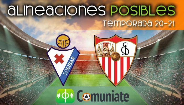 Alineaciones posibles y previa de la Jornada entre Eibar y Sevilla. Jornada 21.