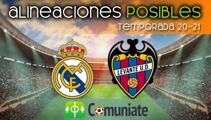 Alineaciones posibles y previa de la Jornada entre Real Madrid y Levante. Jornada 21.