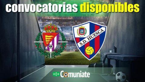 Convocatorias del partido Valladolid y Huesca. Jornada 21.