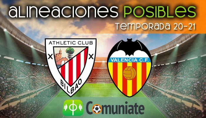 Alineaciones posibles y previa de la Jornada entre Athletic y Valencia. Jornada 22.