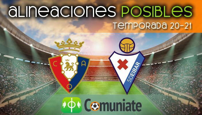 Alineaciones posibles y previa de la Jornada entre Osasuna y Eibar. Jornada 22.
