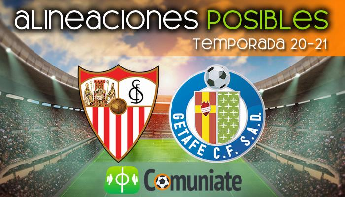 Alineaciones posibles y previa de la Jornada entre Sevilla y Getafe. Jornada 22.