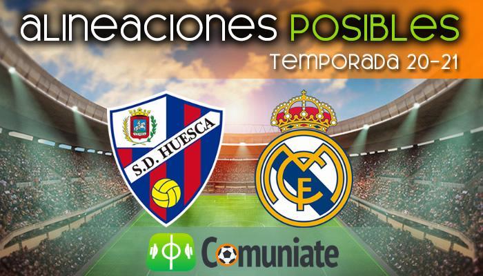 Alineaciones posibles y previa de la Jornada entre Huesca y Real Madrid. Jornada 22.