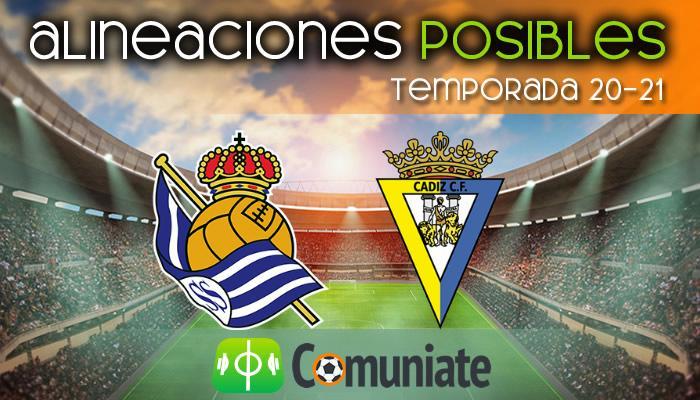 Alineaciones posibles y previa de la Jornada entre Real Sociedad y Cádiz. Jornada 22.