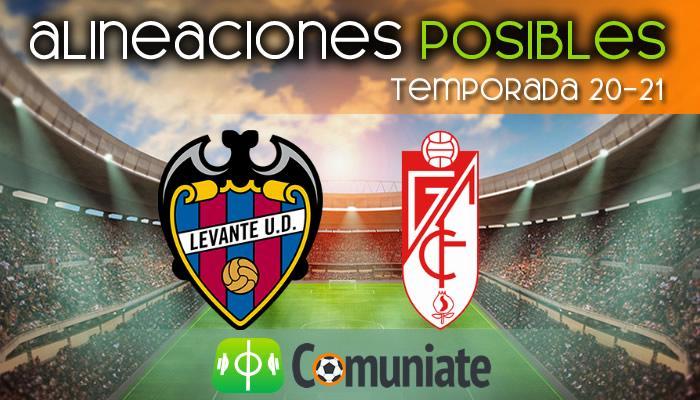 Alineaciones posibles y previa de la Jornada entre Levante y Granada. Jornada 22.