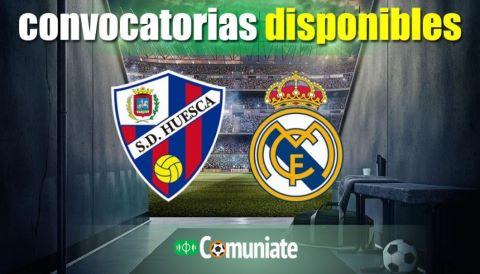 Convocatorias del partido Huesca y Real Madrid. Jornada 22.