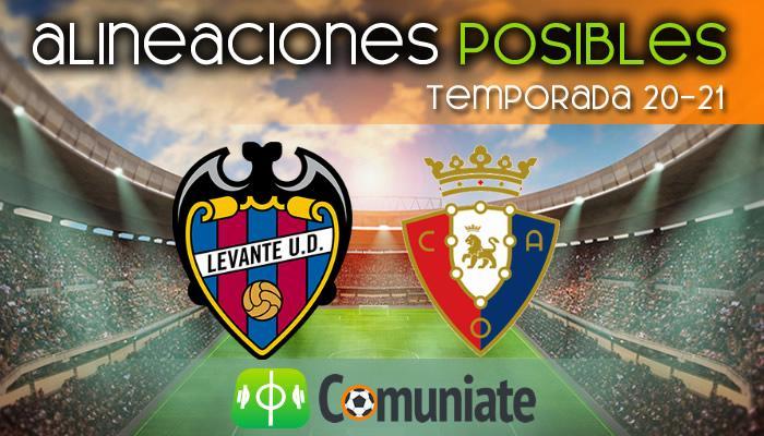 Alineaciones posibles y previa de la Jornada entre Levante y Osasuna. Jornada 23.