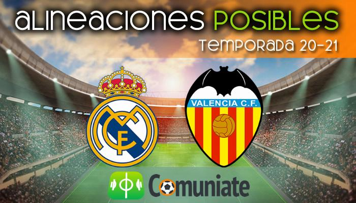 Alineaciones posibles y previa de la Jornada entre Real Madrid y Valencia. Jornada 23.