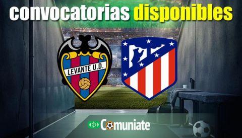 Convocatorias del partido Levante y Atlético. Jornada 2.