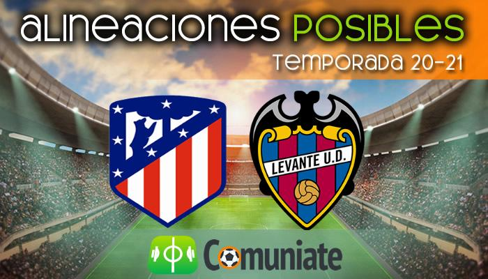 Alineaciones posibles y previa de la Jornada entre Atlético y Levante. Jornada 24.