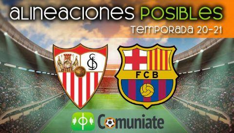Alineaciones posibles y previa de la Jornada entre Sevilla y Barcelona. Jornada 25.