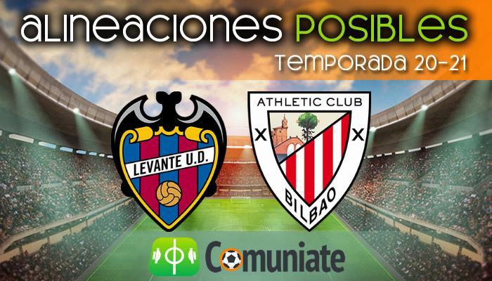 Alineaciones posibles y previa de la Jornada entre Levante y Athletic. Jornada 25.