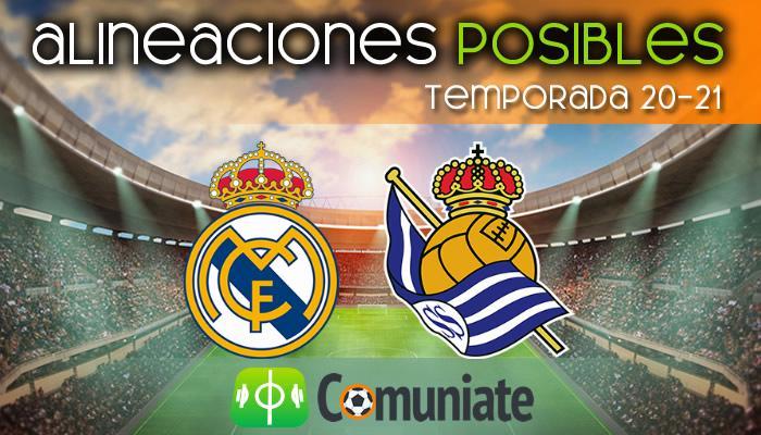 Alineaciones posibles y previa de la Jornada entre Real Madrid y Real Sociedad. Jornada 25.