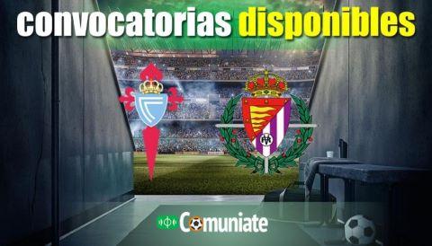 Convocatorias del partido Celta y Valladolid. Jornada 25.