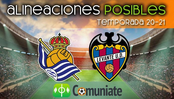 Alineaciones posibles y previa de la Jornada entre Real Sociedad y Levante. Jornada 26.