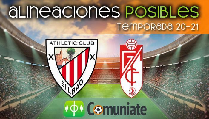 Alineaciones posibles y previa de la Jornada entre Athletic y Granada. Jornada 26.