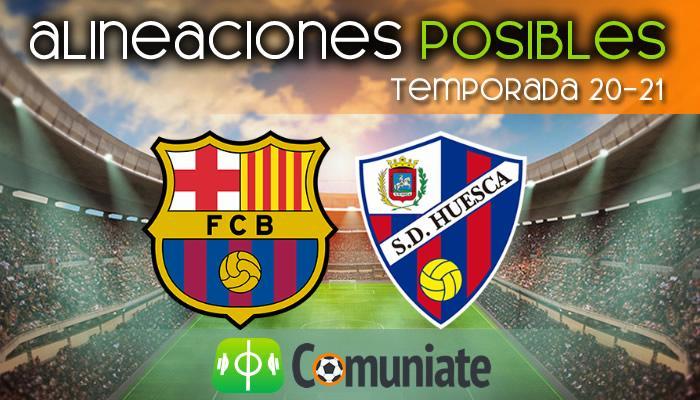 Alineaciones posibles y previa de la Jornada entre Barcelona y Huesca. Jornada 27.