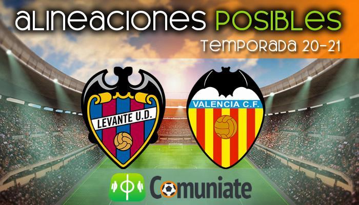 Alineaciones posibles y previa de la Jornada entre Levante y Valencia. Jornada 27.