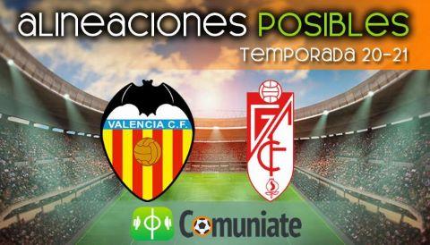 Alineaciones posibles y previa de la Jornada entre Valencia y Granada. Jornada 28.