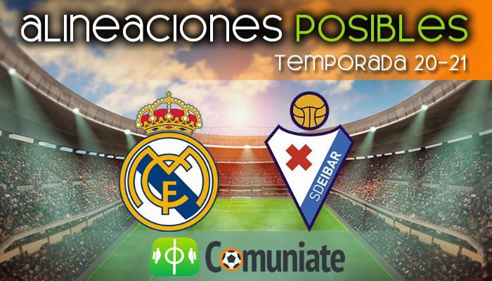 Alineaciones posibles y previa de la Jornada entre Real Madrid y Eibar. Jornada 29.