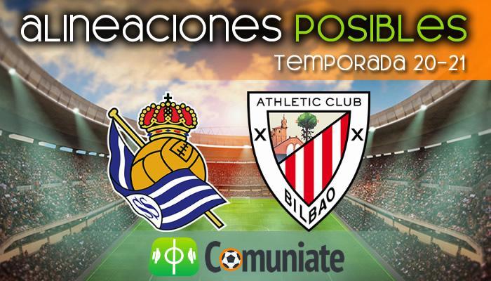 Alineaciones posibles y previa de la Jornada entre Real Sociedad y Athletic. Jornada 29.