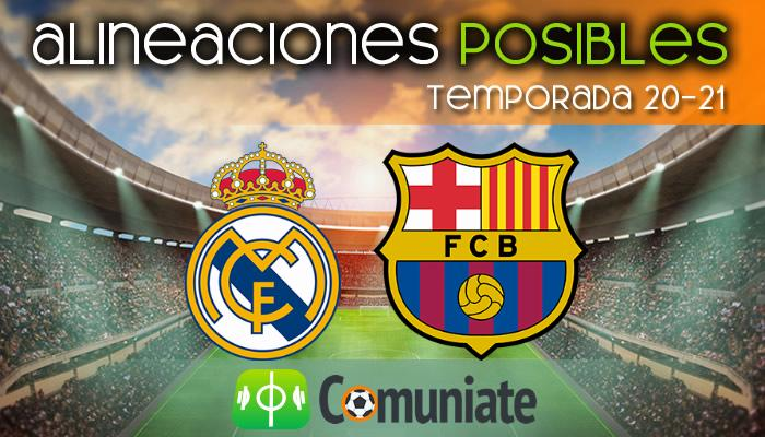 Alineaciones posibles y previa de la Jornada entre Real Madrid y Barcelona. Jornada 30.