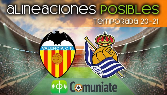 Alineaciones posibles y previa de la Jornada entre Valencia y Real Sociedad. Jornada 30.