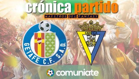 Crónica del partido disputado entre Getafe y Cádiz. Jornada 30.