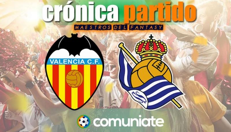 Crónica del partido disputado entre Valencia y Real Sociedad. Jornada 30.