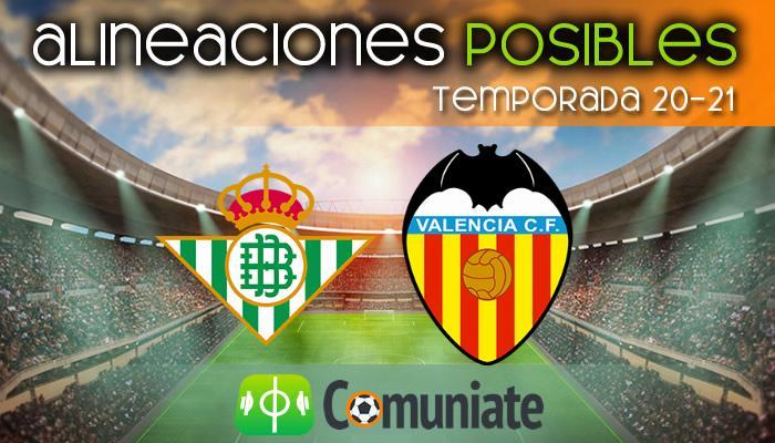 Alineaciones posibles y previa de la Jornada entre Betis y Valencia. Jornada 33.