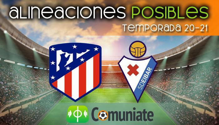 Alineaciones posibles y previa de la Jornada entre Atlético y Eibar. Jornada 33.