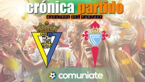 Crónica del partido disputado entre Cádiz y Celta. Jornada 33.
