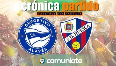 Crónica del partido disputado entre Alavés y Huesca. Jornada 33.
