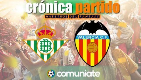 Crónica del partido disputado entre Betis y Valencia. Jornada 33.