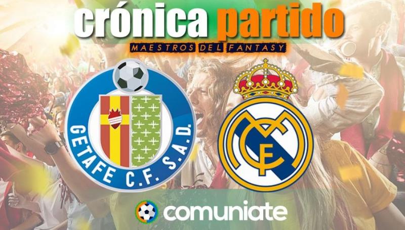 Crónica del partido disputado entre Getafe y Real Madrid. Jornada 33.