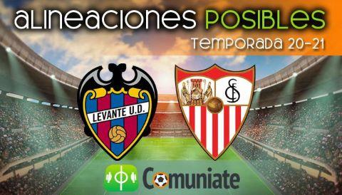 Alineaciones posibles y previa de la Jornada entre Levante y Sevilla. Jornada 31.