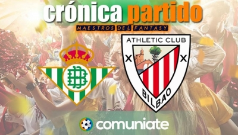 Crónica del partido disputado entre Betis y Athletic. Jornada 31.