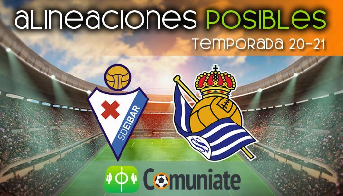 Alineaciones posibles y previa de la Jornada entre Eibar y Real Sociedad. Jornada 32.