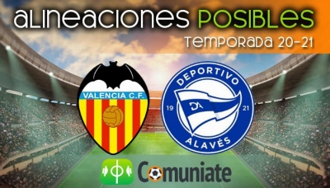 Alineaciones posibles y previa de la Jornada entre Valencia y Alavés. Jornada 32.