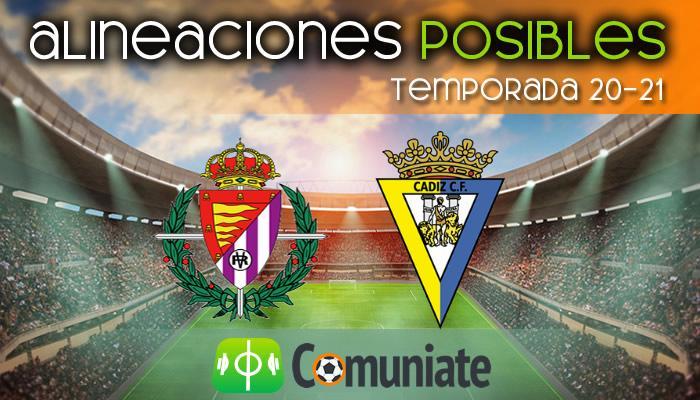 Alineaciones posibles y previa de la Jornada entre Valladolid y Cádiz. Jornada 32.
