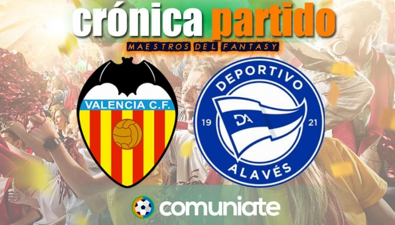 Crónica del partido disputado entre Valencia y Alavés. Jornada 32.