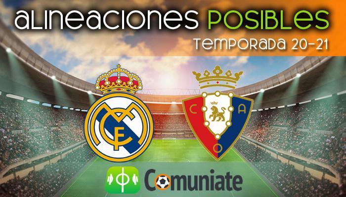 Alineaciones posibles y previa de la Jornada entre Real Madrid y Osasuna. Jornada 34.